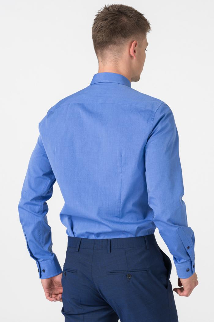 Varteks Men's blue cotton shirt - Regular fit