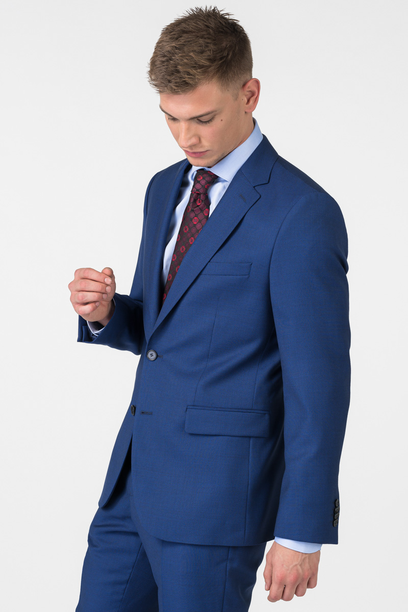 Varteks Tamno plavi muški sako sa sitnom strukturom - Regular fit