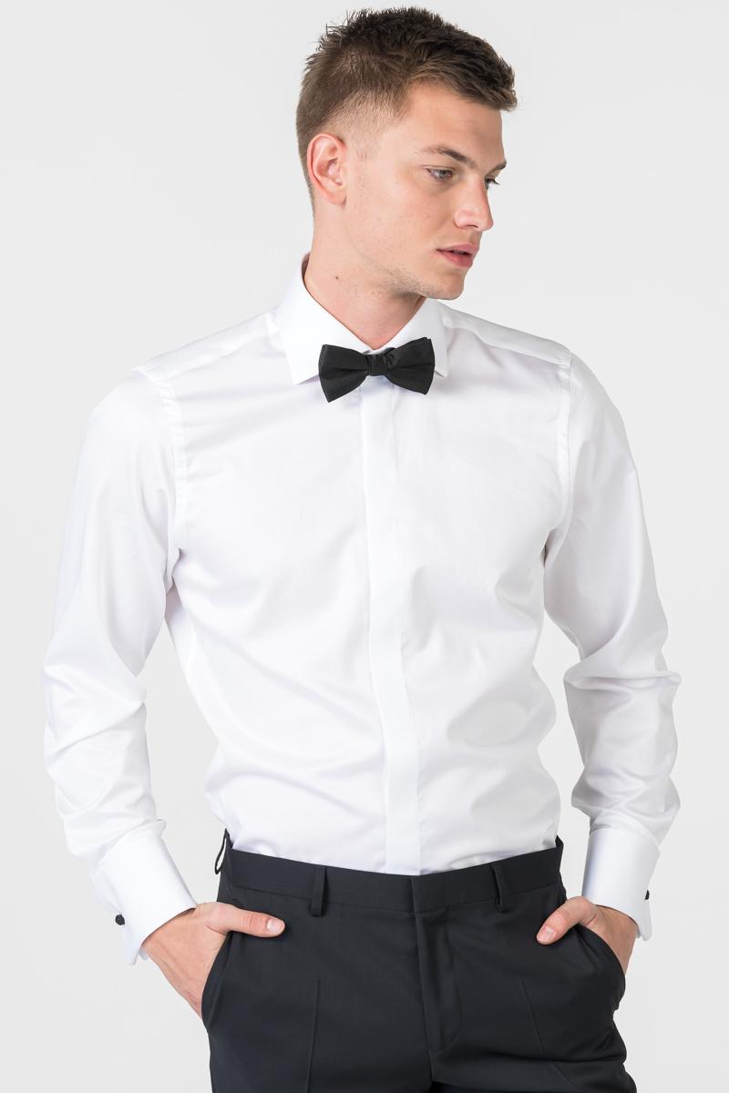 Varteks Bijela košulja s crnim manžetama - Slim fit