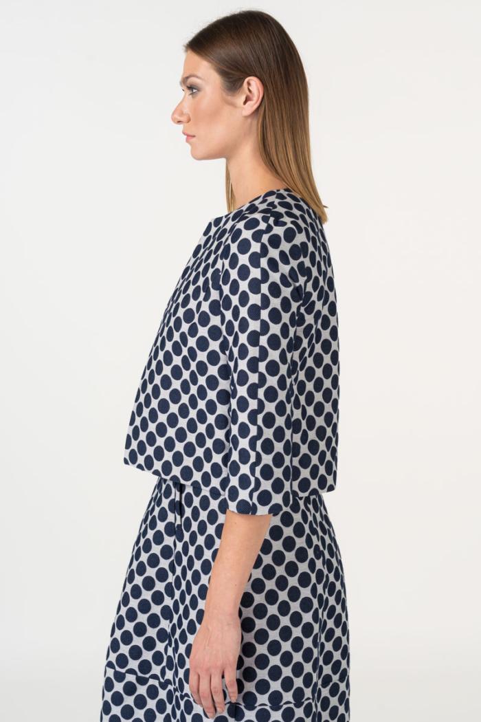 Varteks Women's blazer polka dot pattern