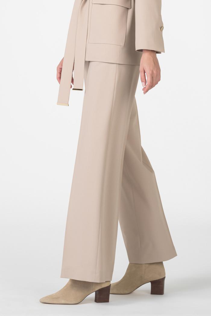 Varteks Ženske beige hlače širokog kroja