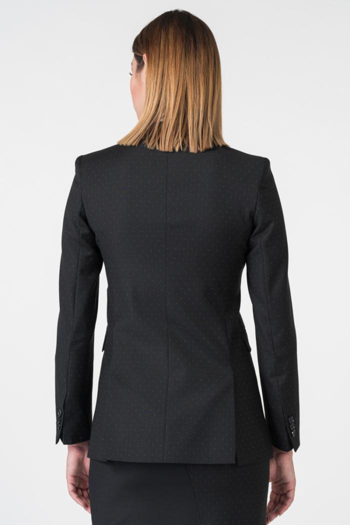 Varteks Black women's polka dot blazer