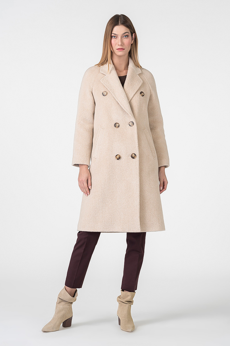 Varteks Women's long beige coat