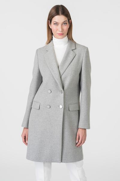 Varteks Ženski sivi kaput dvorednog kopčanja