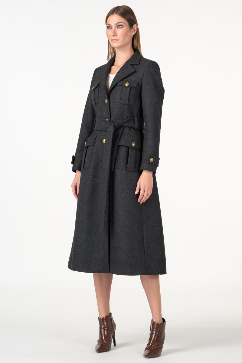 Varteks Ženski military kaput antracit sive boje