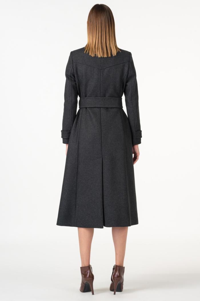 Varteks Women's military grey color coat