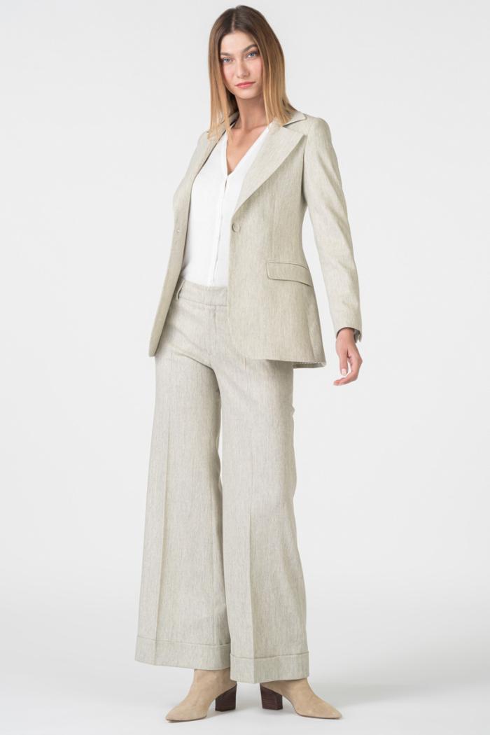 Varteks Limited Edition - Široke ženske hlače od runske vune i kašmira