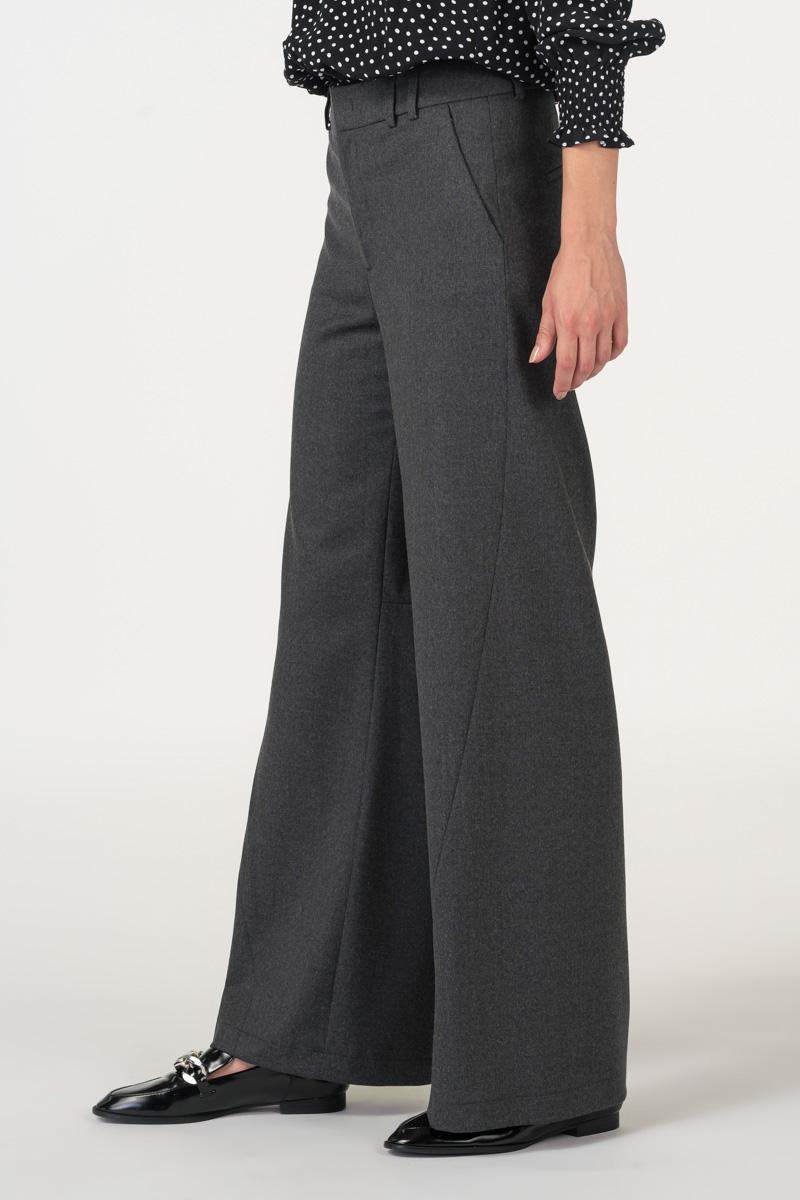 Varteks Women's grey wide-leg trousers