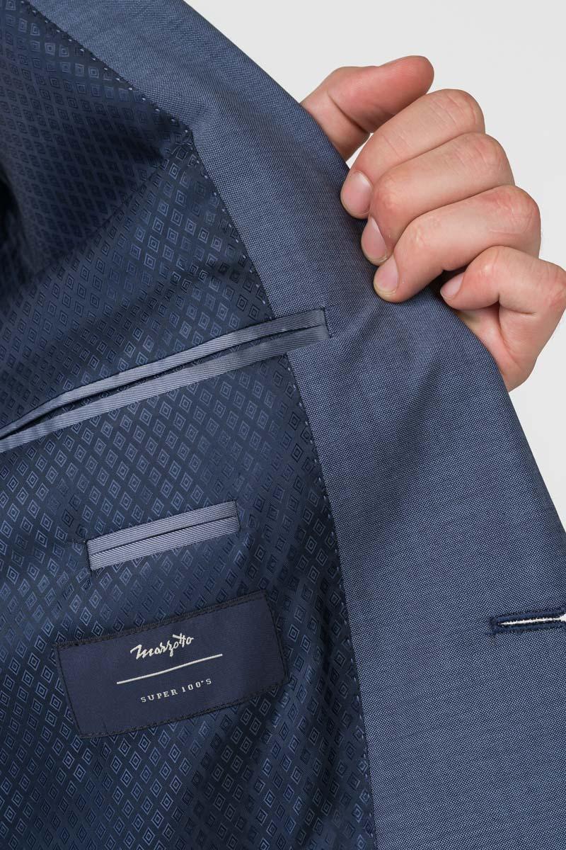 Varteks Men's grey blue blazer - Comfort fit