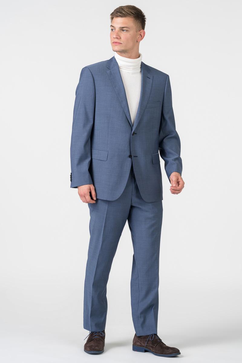 Varteks Grey blue men's suit trousers - Comfort fit