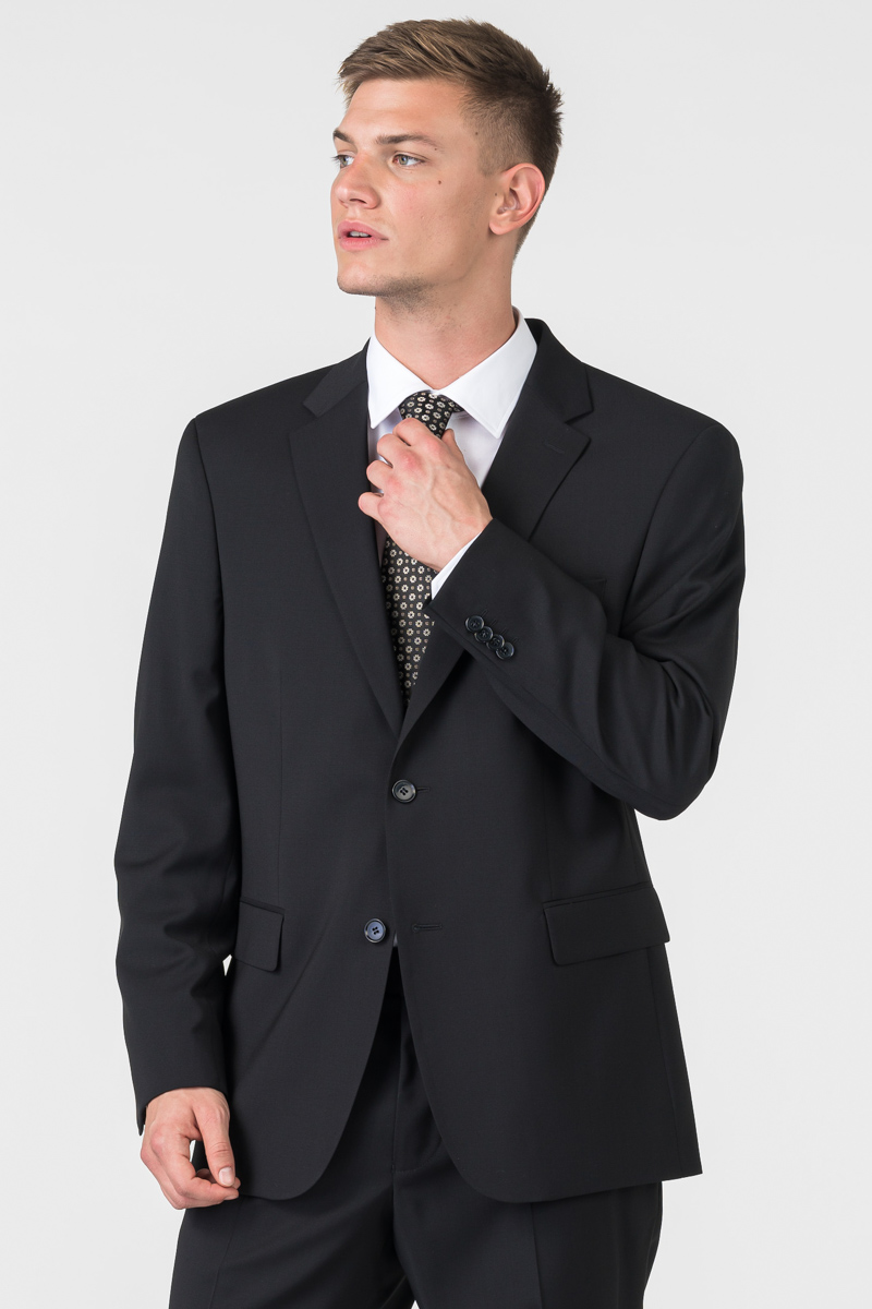 Varteks classic black men's blazer - Comfort fit
