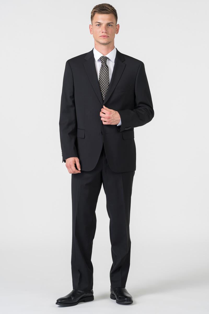 Varteks Klasične crne muške hlače od odijela - Comfort fit
