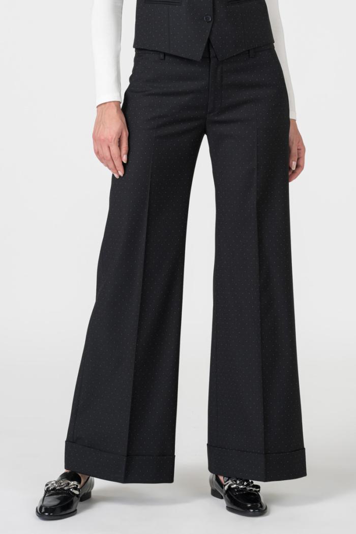 Varteks Wide women's polka dot trousers