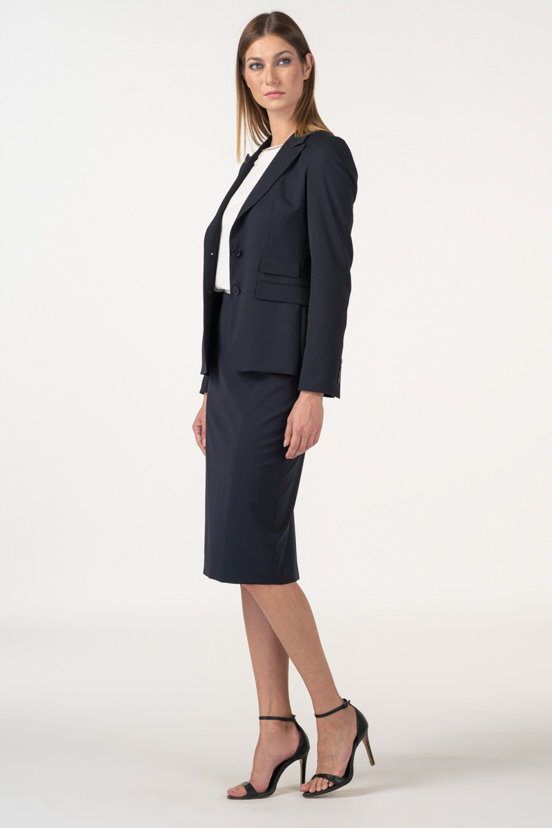 Varteks Dark blue pencil skirt
