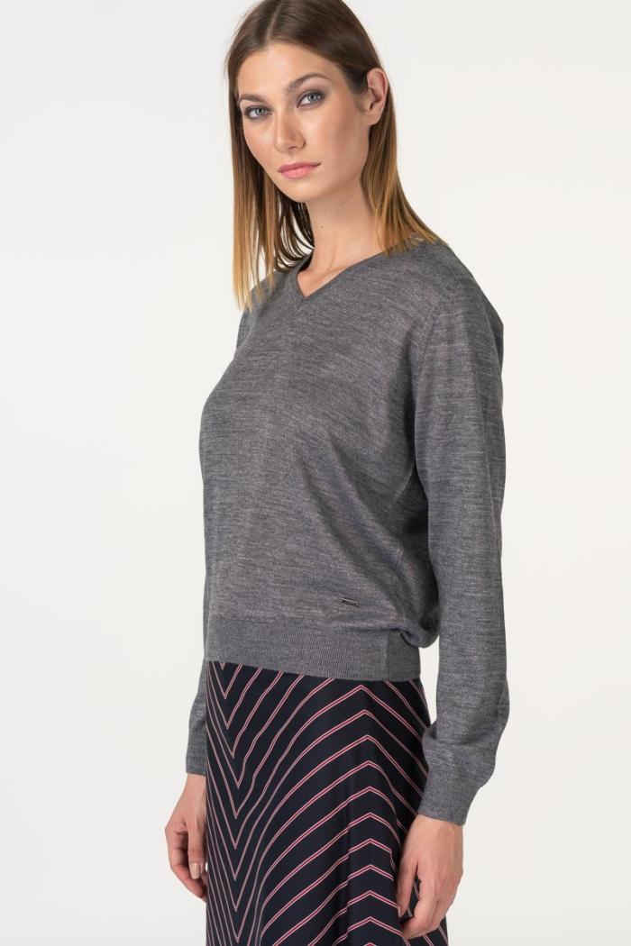 Varteks Grey women's long-sleeved sweater
