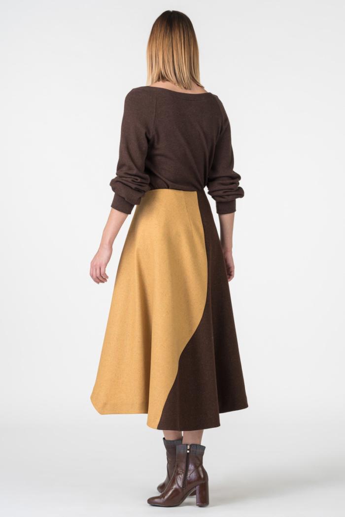 Varteks Asimetrična suknja boje gorušice