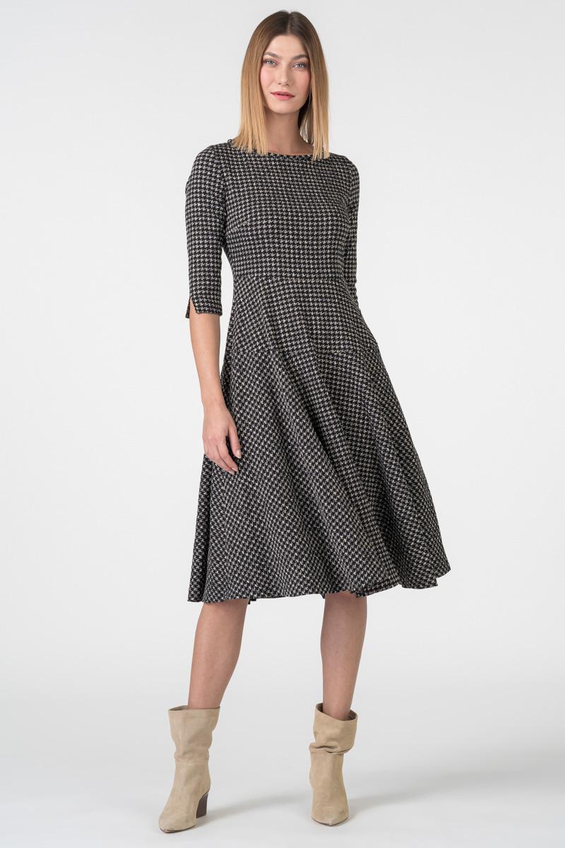 Varteks Women's pepita pattern dress