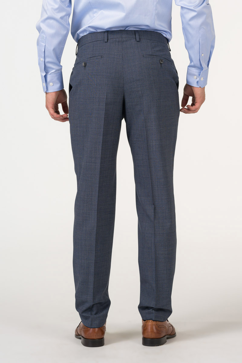Varteks Decent plaid men's suit trousers - Regular fit
