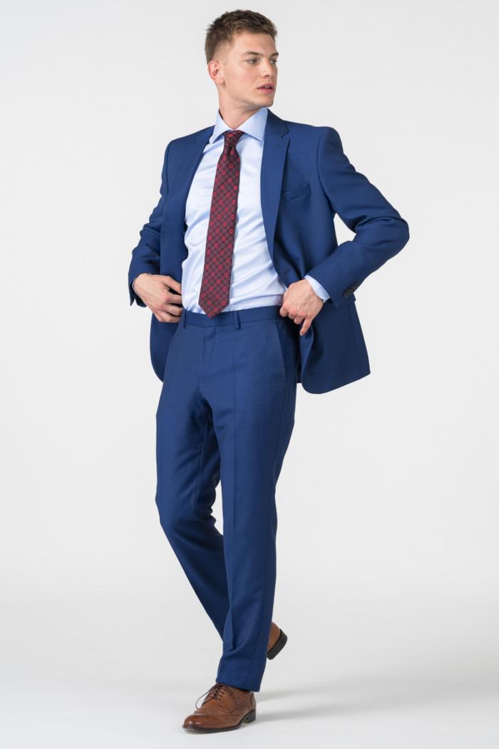 Varteks Tamno plave muške hlače sa sitnom strukturom - Regular fit