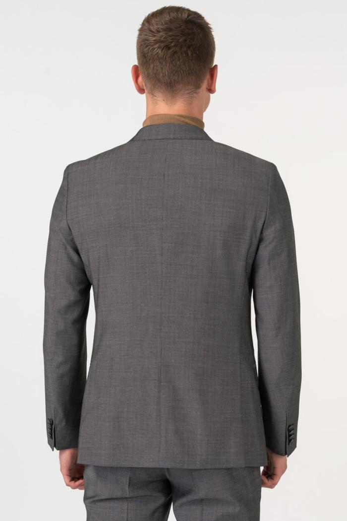 Varteks Men's grey virgin wool suit 100s Slim fit