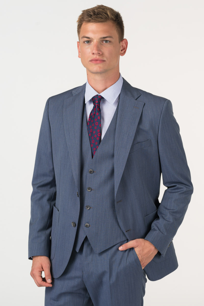 Varteks Men's suit blazer in denim blue - Regular fit