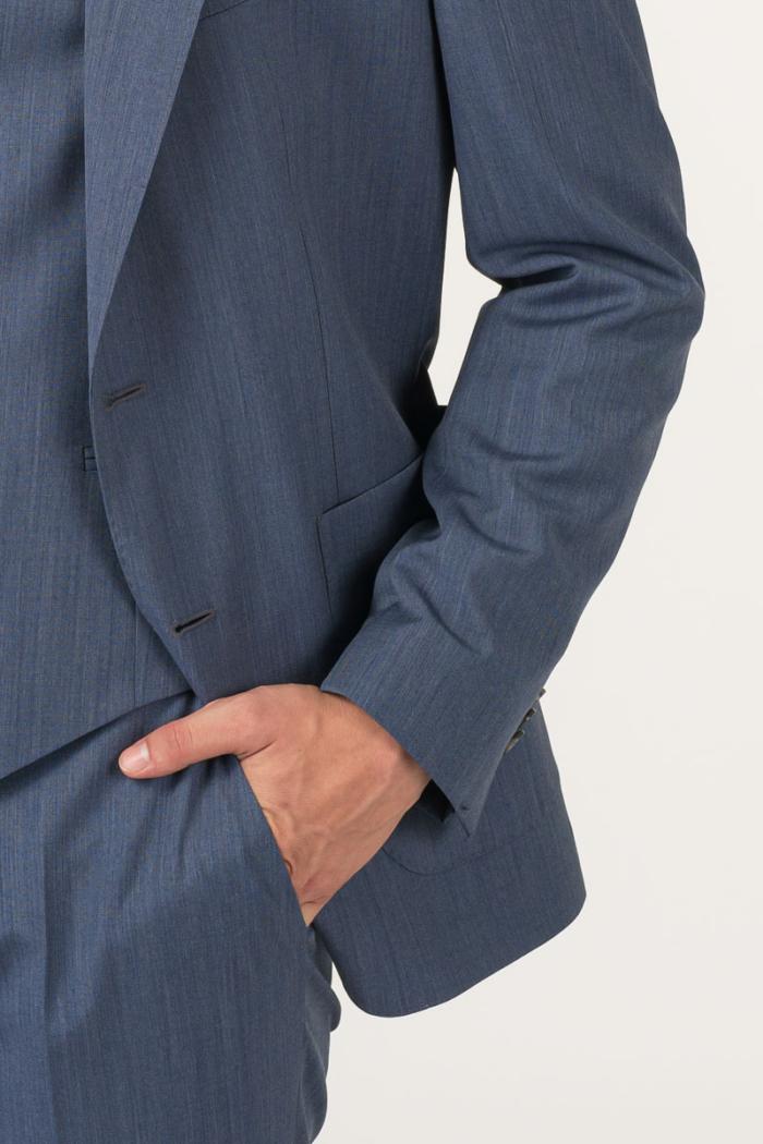 Varaždin Muški sako od odijela denim plave boje - Regular fit
