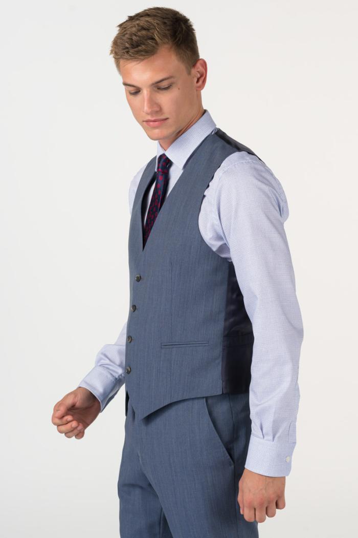 Varteks Men's blue denim suit waistcoat