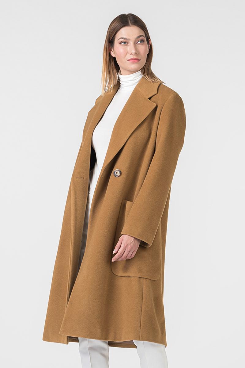 Varteks Women's long coat in color camel