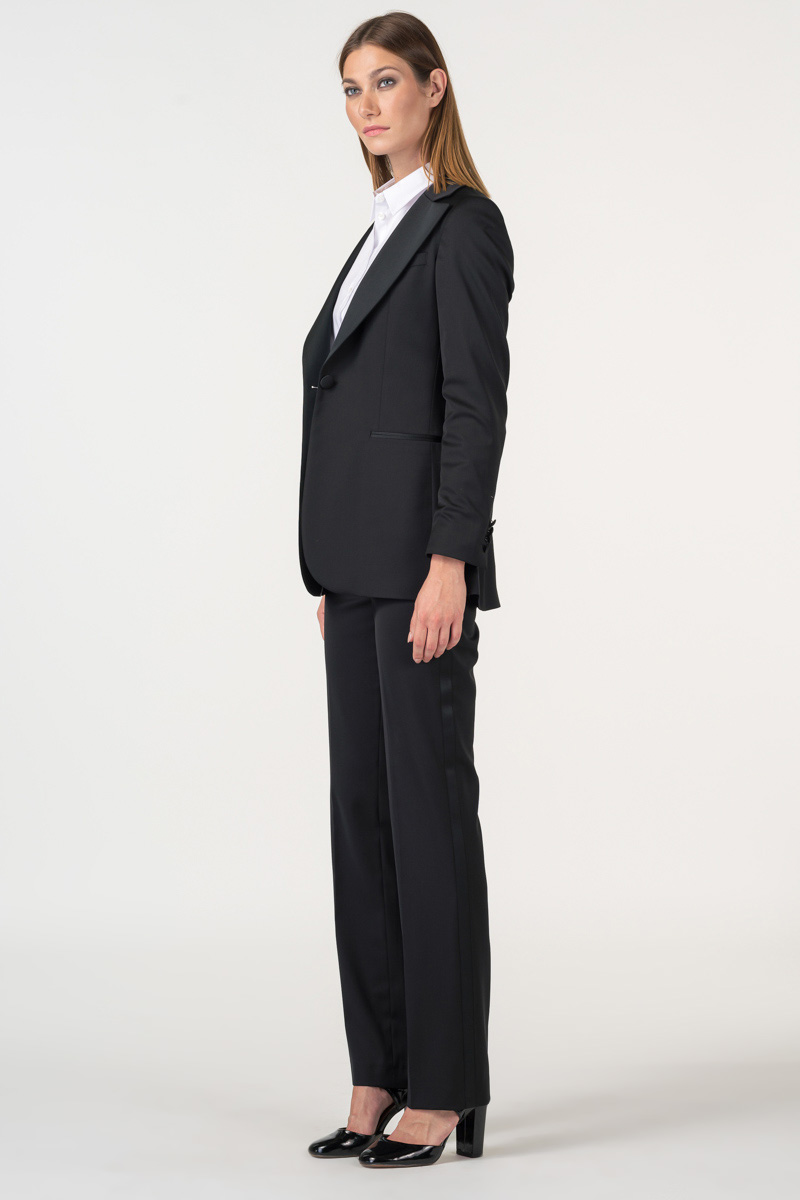 Varteks Elegant black suit trousers