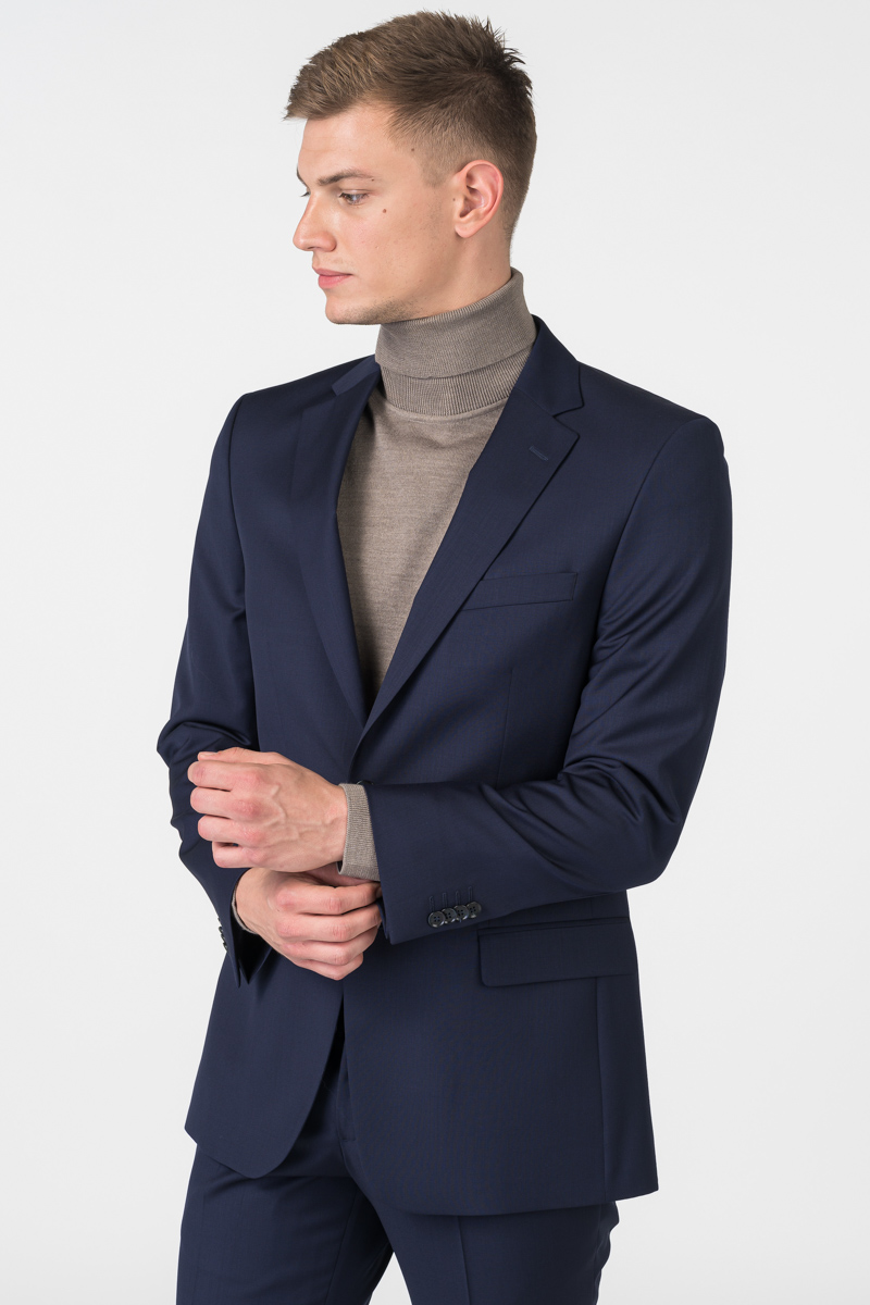 Varteks Men's dark blue suit blazer - Slim fit