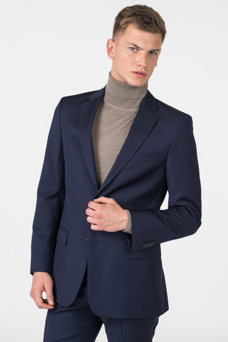Varteks Men's dark blue suit blazer - Slim fit