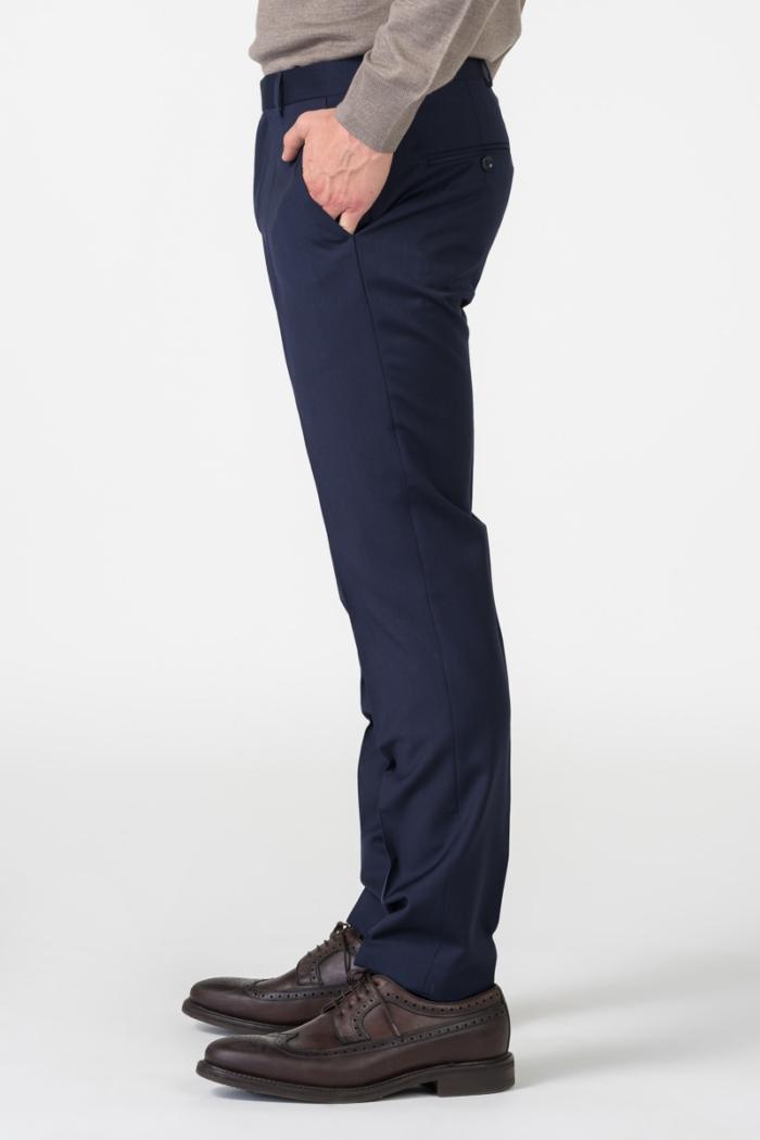 Varteks Muške tamno plave hlače od odijela - Slim fit