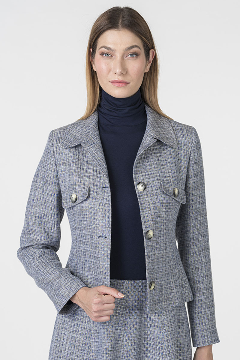 Varteks Women's grey-blue suit blazer