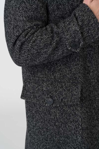 Varteks Crno bijeli muški kaput od runske vune i pamuka