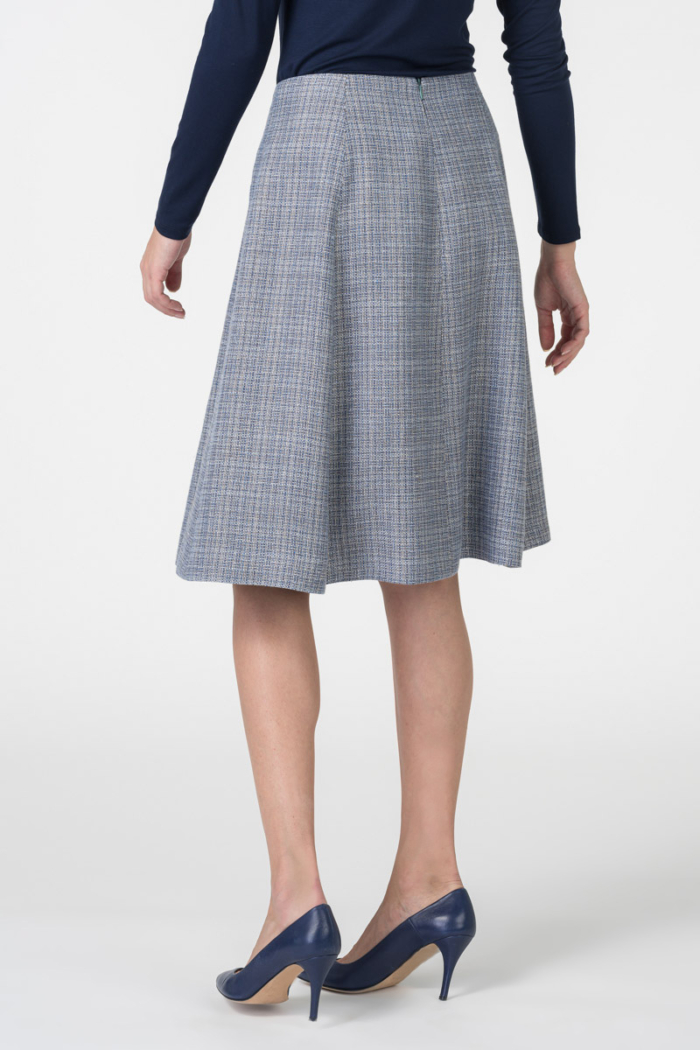 Varteks Women's grey blue suit skirt