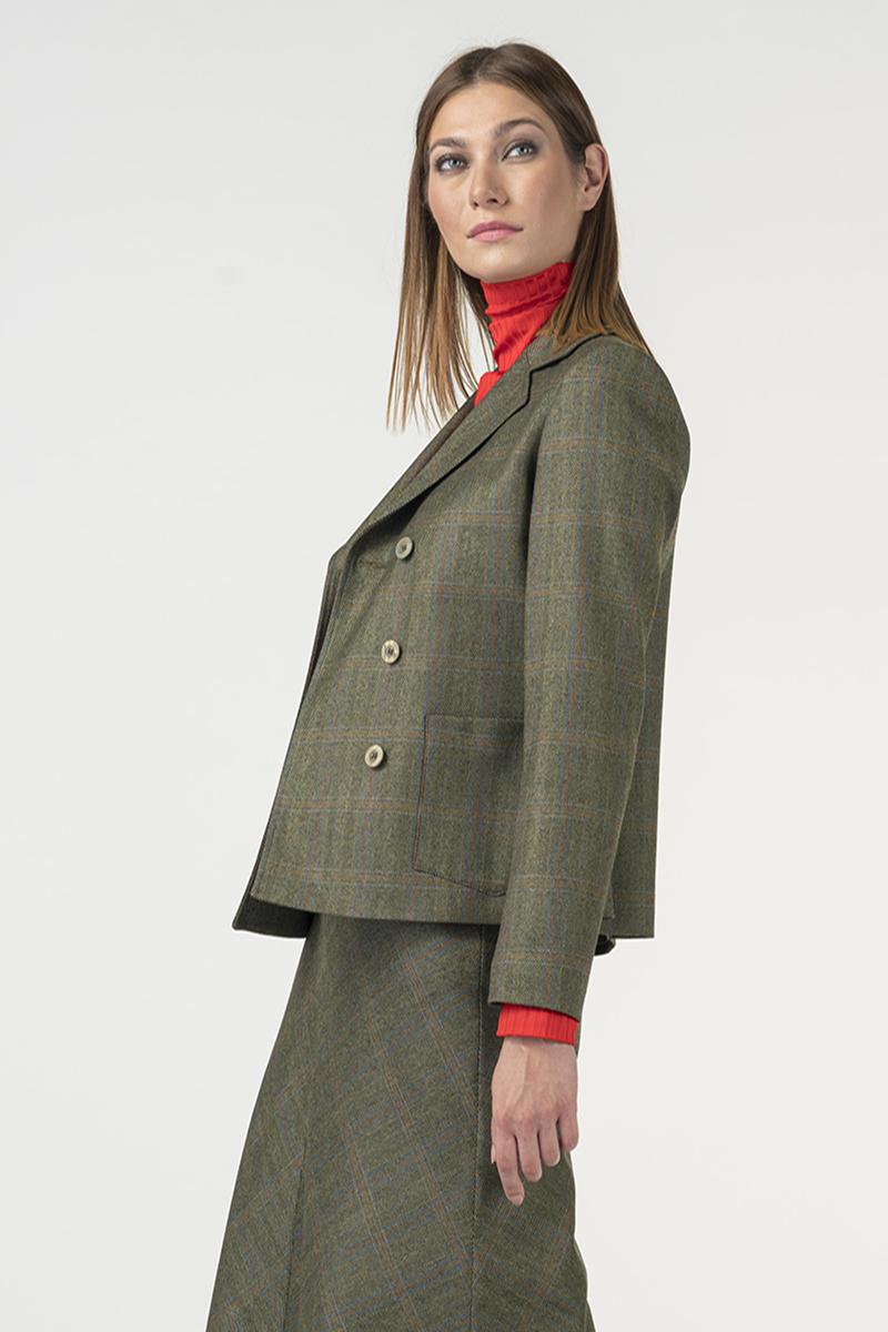 Karirani sako od odijela u dvije boje