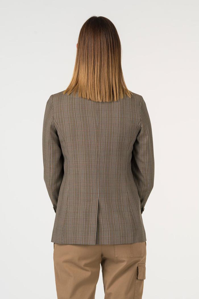 Varteks Plaid women's blazer in earth tones