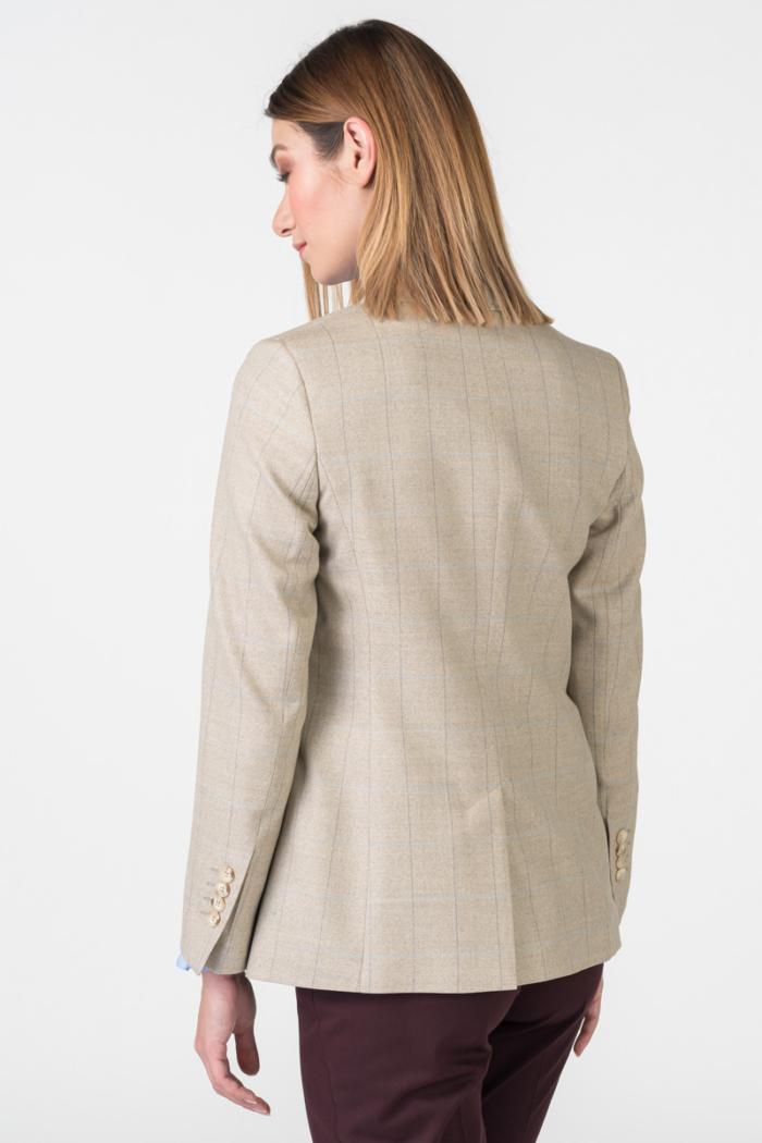 Varteks Klasični ženski karirani sako beige boje
