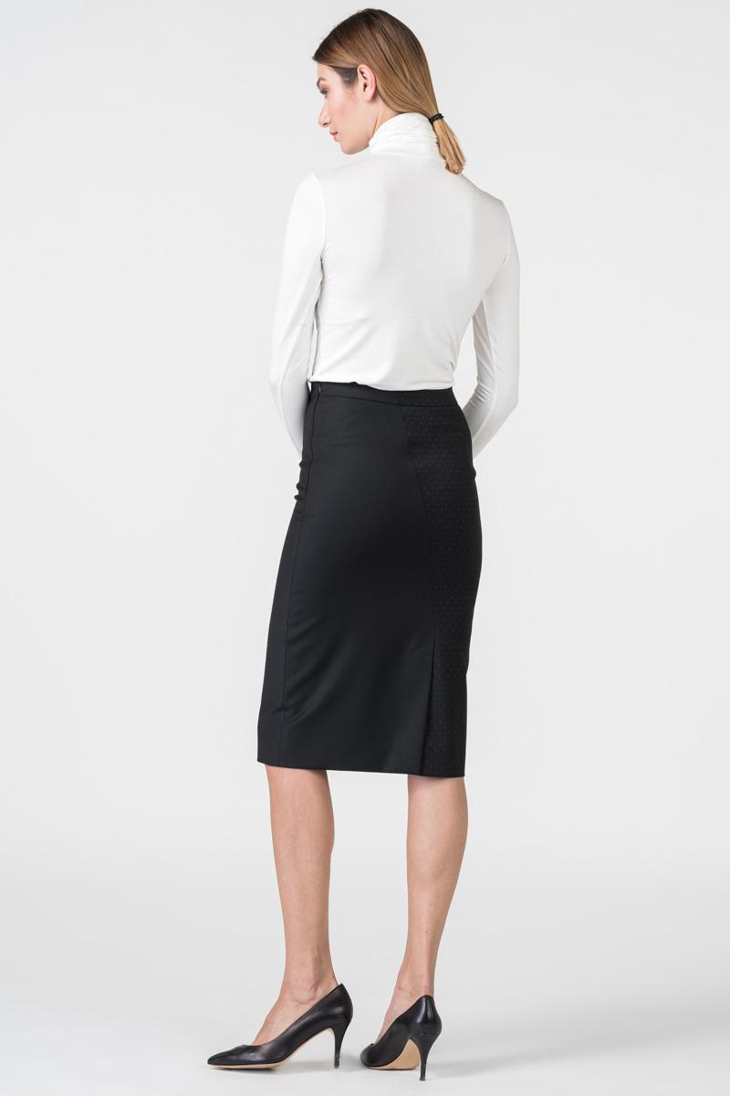 Varteks Black pencil skirt with polka dots