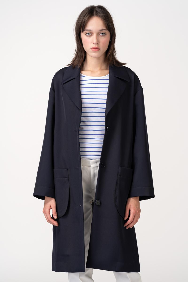 Varteks Dark blue women's overcoat