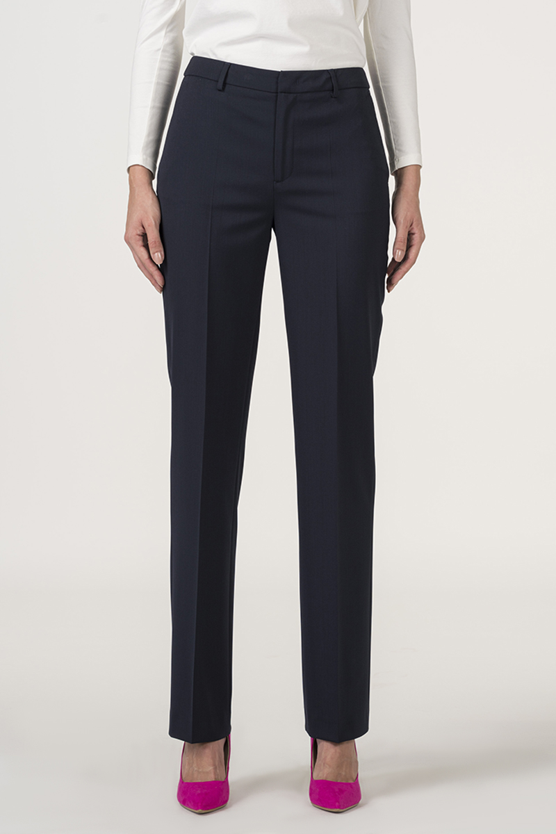 Varteks Tamno plave klasične ženske hlače