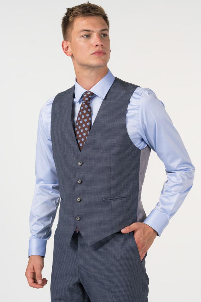 Varteks Decentno karirani muški prsluk od odijela