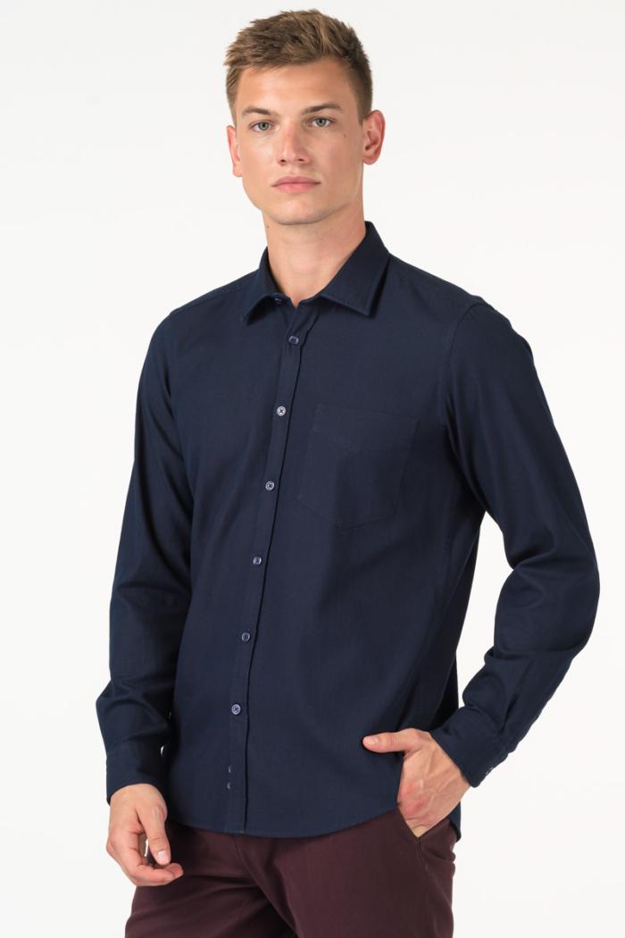 Varteks Men's cotton indigo blue shirt - casual fit