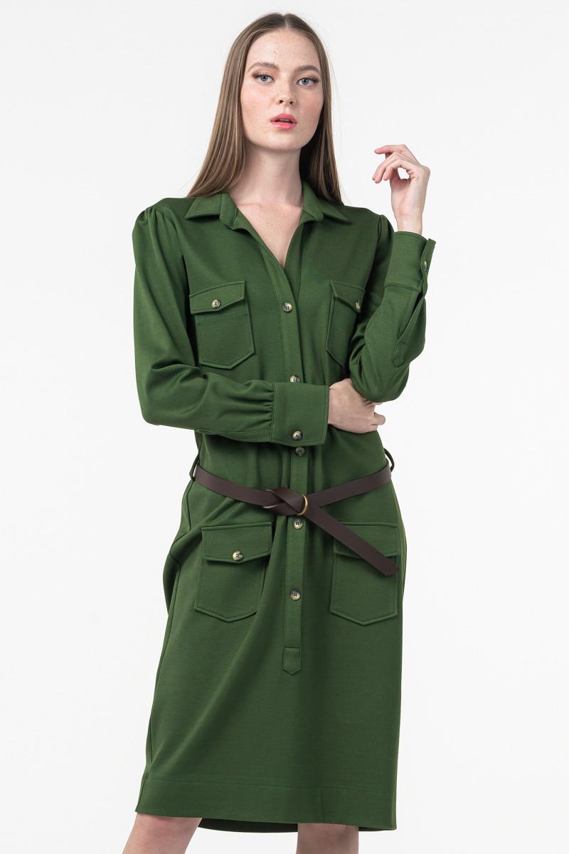 Varteks Zelena ženska haljina s remenom
