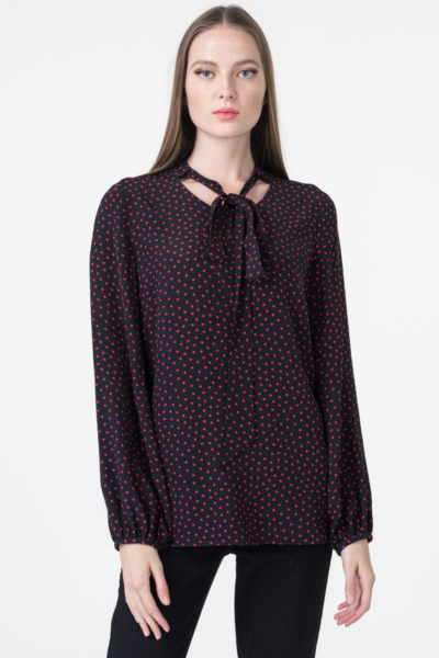 Varteks Women's blouse red dots