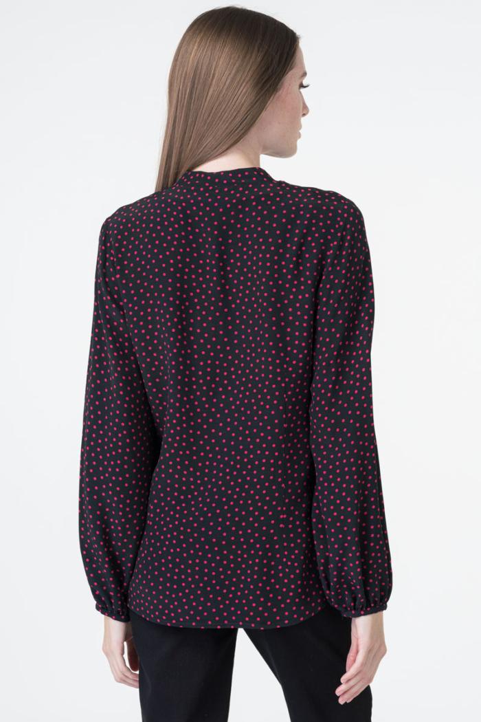 Varteks Ženska bluza s crvenim točkicama