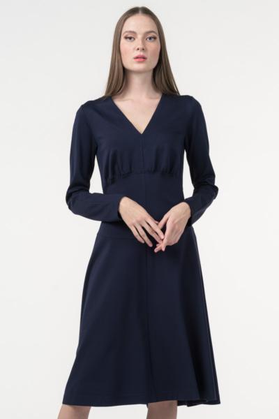 Varteks Women's dress dark blue color