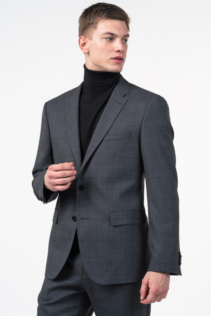 Varteks Limited Edition - Muško sivo karirano odijelo - Regular fit