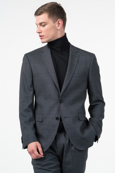 Varteks Limited Edition - Men's plaid grey suit - Regular fit