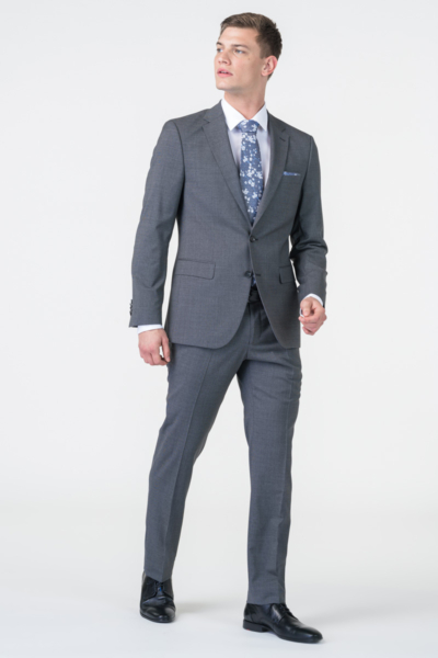 Varteks Men's grey suit pants - Regular fit